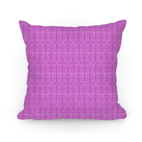 Purple Medieval Pattern Pillow