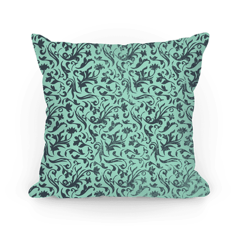 Green Medieval Flower Pattern