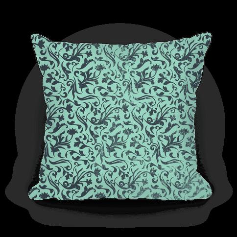 Green Medieval Flower Pattern