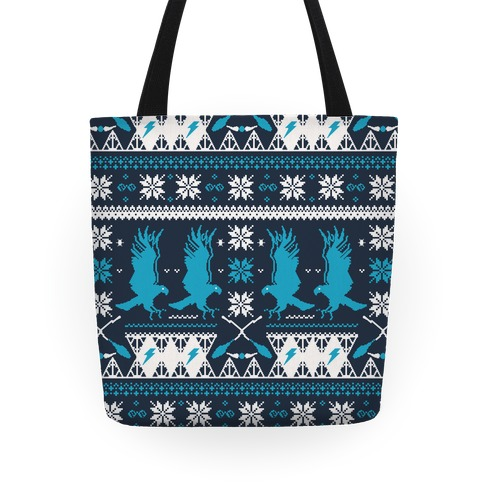 Hogwarts Ugly Christmas Sweater Pattern: Ravenclaw Tote
