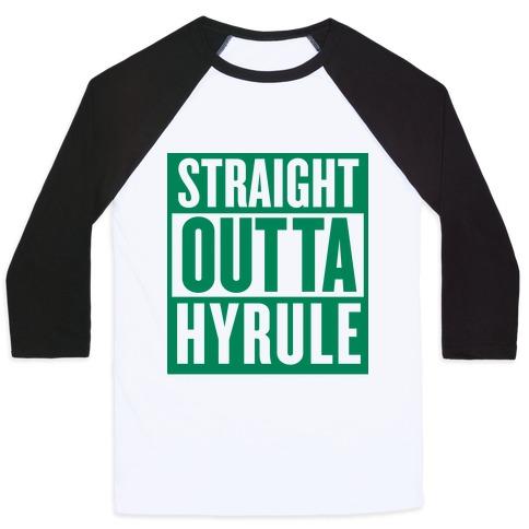 Straight Outta Hyrule Baseball Tee