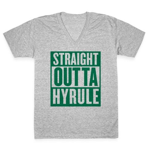 Straight Outta Hyrule V-Neck Tee Shirt