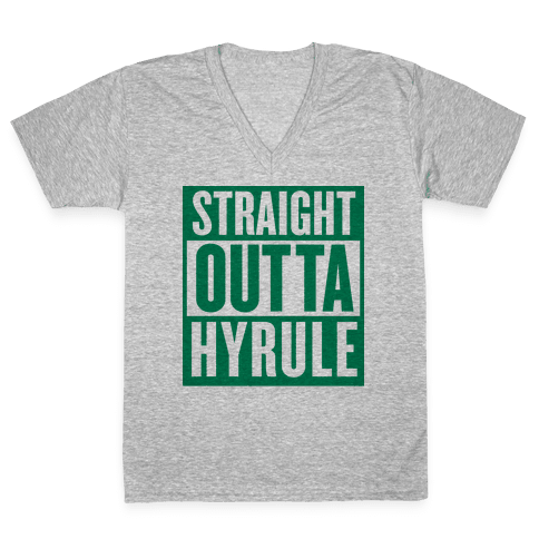 Straight Outta Hyrule V-Neck Tee Shirt