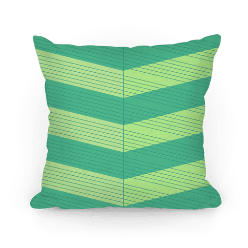 Stripes on Stripes Pattern (Green) Pillow