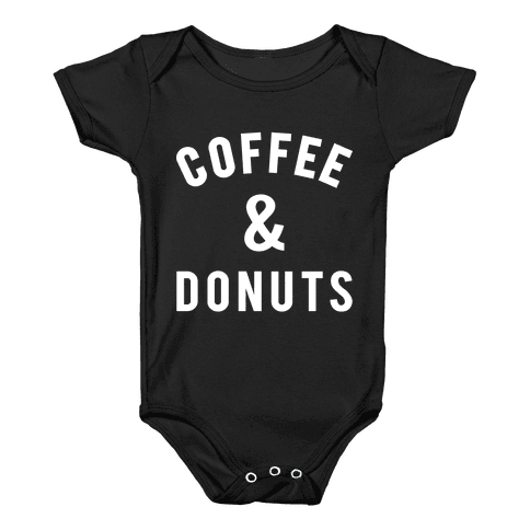 Coffee And Donuts Baby Onesy