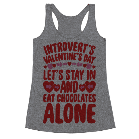 Introverted Valentine Racerback Tank Top