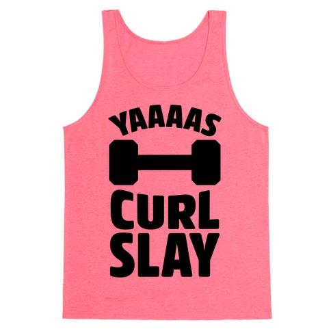 Yaaaas Curl Slay Tank Top
