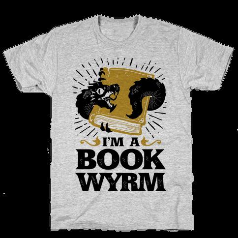 I'm a Book Wyrm Mens T-Shirt
