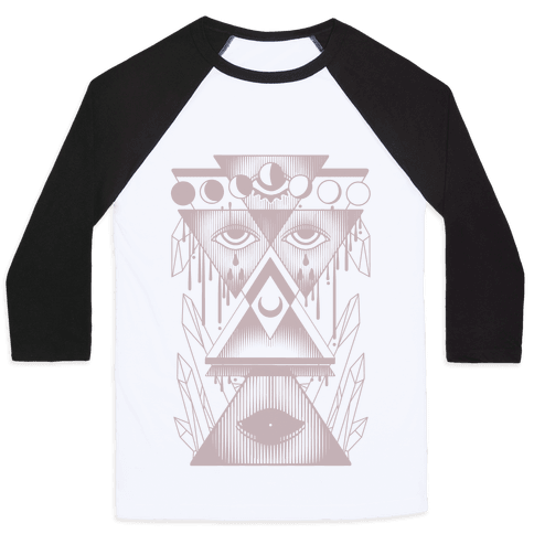 Witch Collage Baseball Tee