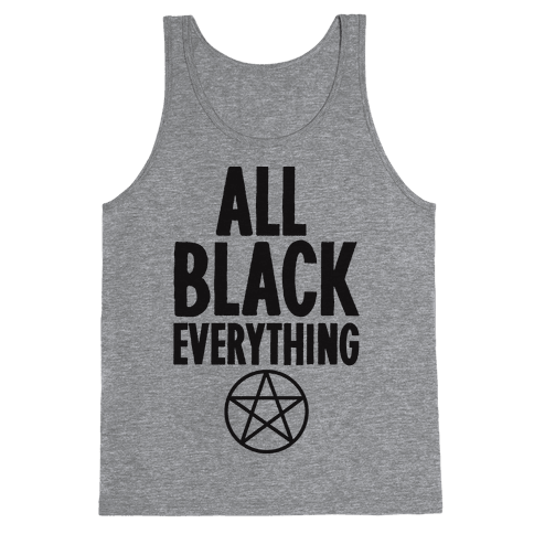 All Black Everything Tank Top