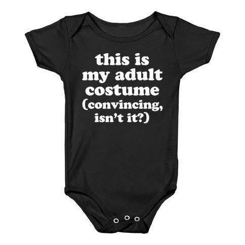 Adult Human Halloween Costume Baby Onesy