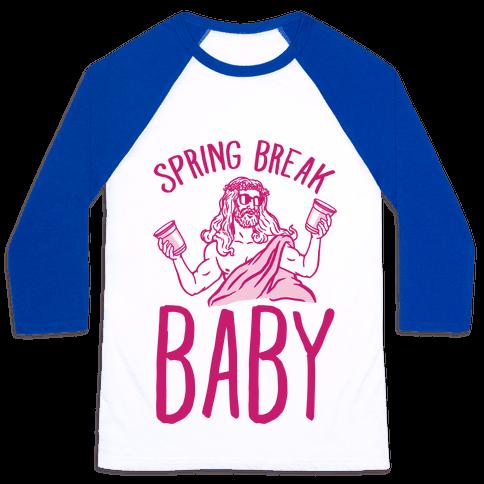 Spring Break Baby Baseball Tee