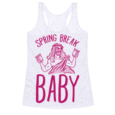 Spring Break Baby Racerback Tank Top
