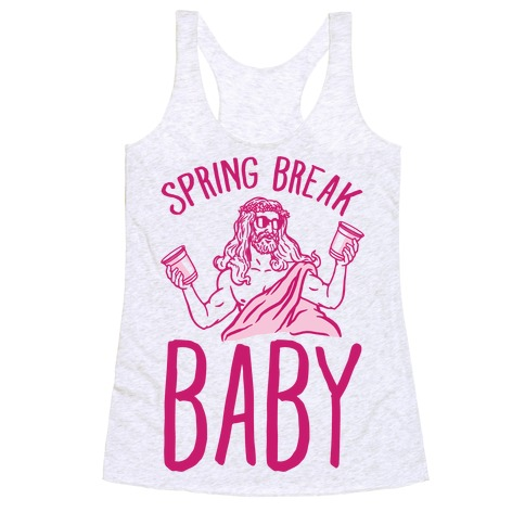 Spring Break Baby Racerback Tank Top