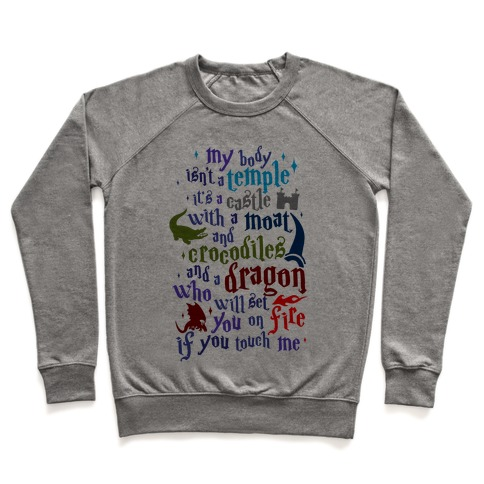 45f9524d7 My Body Isn't A Temple Crewneck Sweatshirt | LookHUMAN