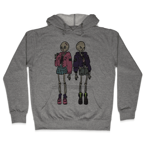 Skeleton Girls Hooded Sweatshirt