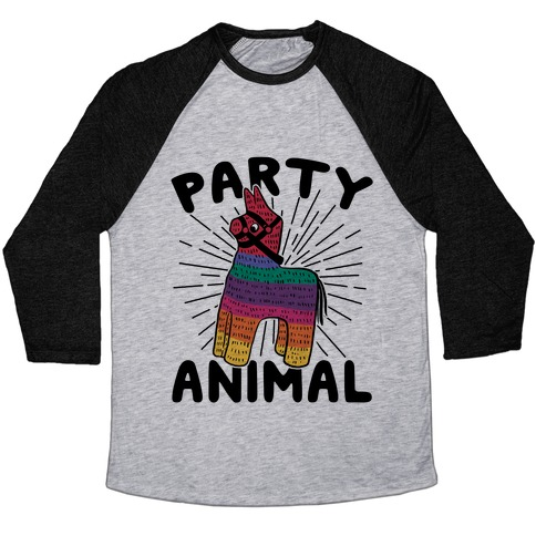 Party Animal Baseball Tee