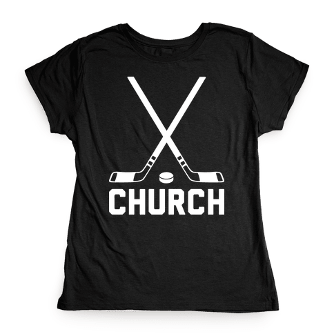 Hockey Church Womens T-Shirt