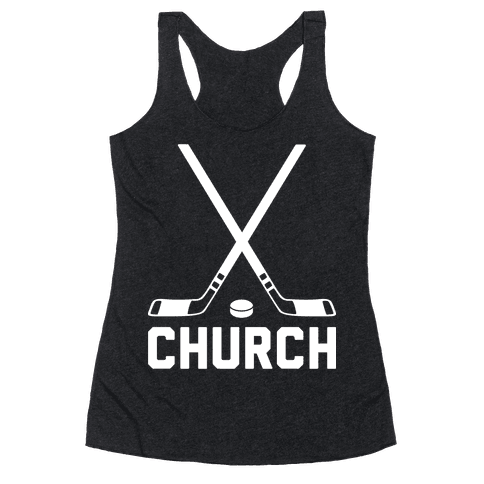 Hockey Church Racerback Tank Top