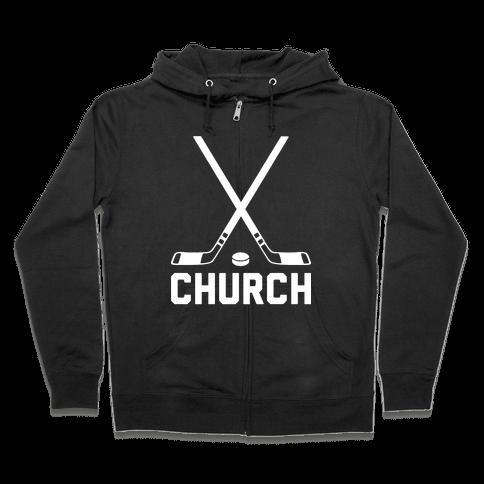 Hockey Church Zip Hoodie