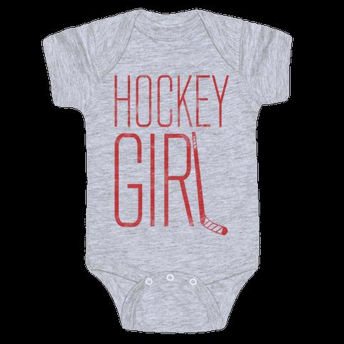 Hockey Girl Baby Onesy