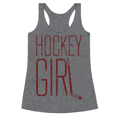 Hockey Girl Racerback Tank Top