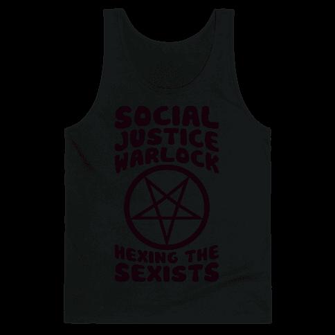 Social Justice Warlock Tank Top