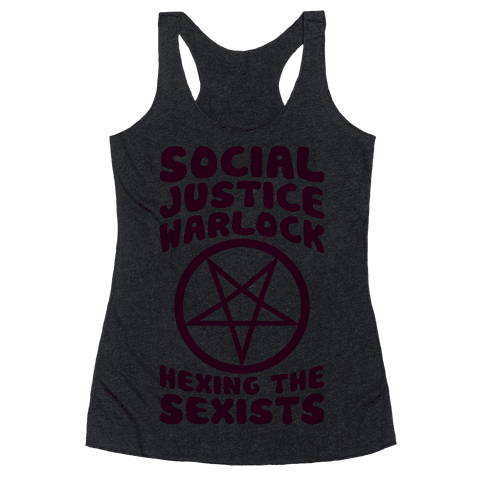 Social Justice Warlock Racerback Tank Top