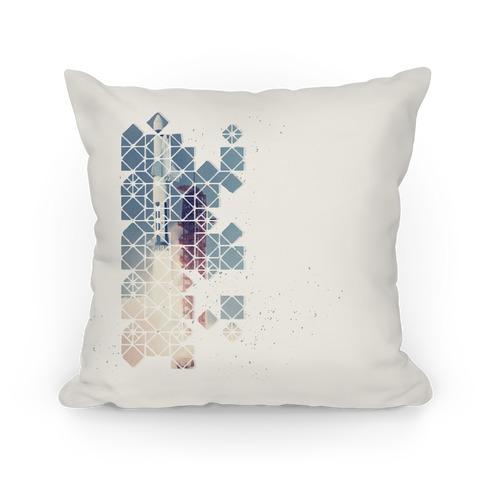 Hexagon Space Ship Pillow