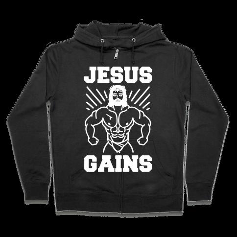 Jesus Gains Zip Hoodie