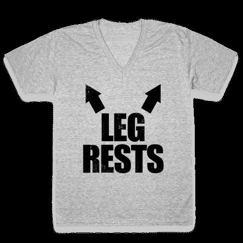 Leg Rests V-Neck Tee Shirt