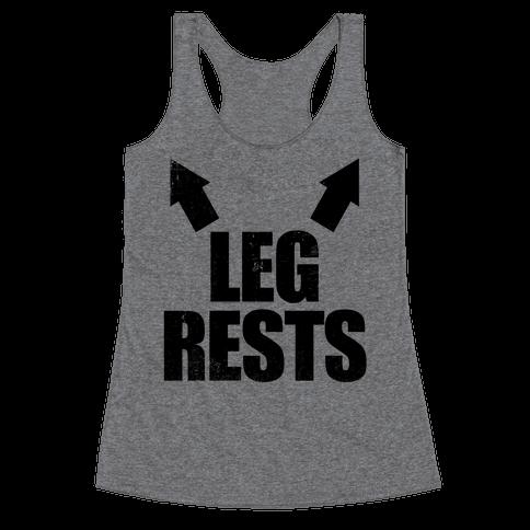 Leg Rests Racerback Tank Top