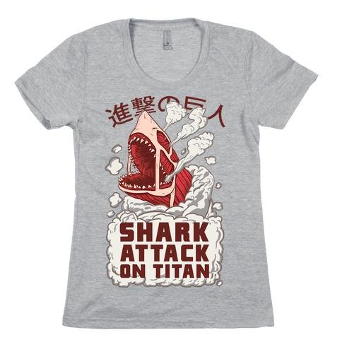Shark Attack On Titan Womens T-Shirt