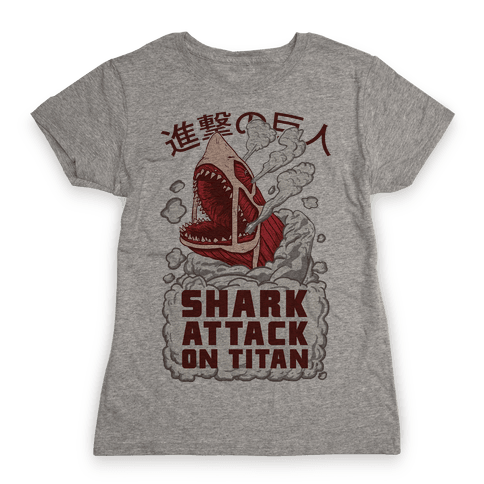 Shark Attack On Titan Womens T-Shirt
