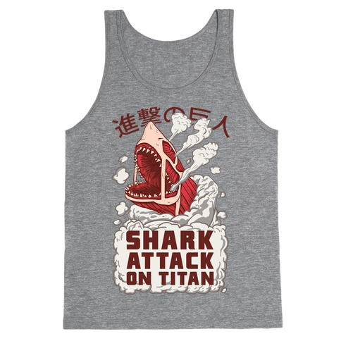 Shark Attack On Titan Tank Top