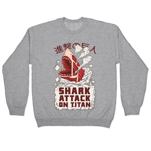 Shark Attack On Titan Pullover
