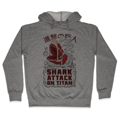 Shark Attack On Titan Hooded Sweatshirt