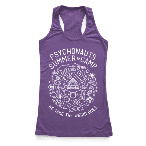 Psychonauts Summer Camp Racerback Tank Top