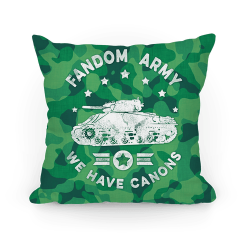 Fandom Army Pillow