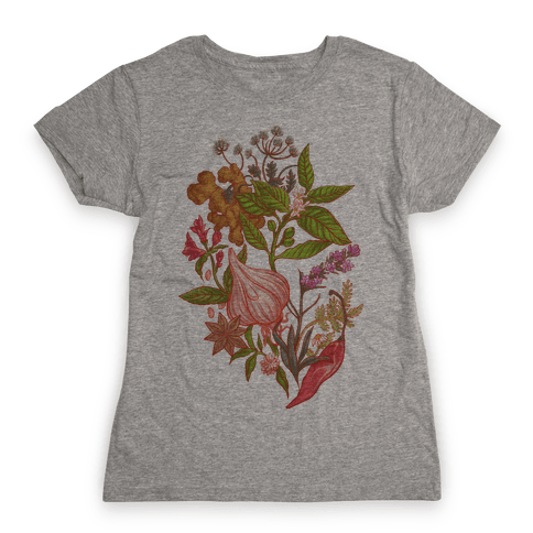 Chef's Botanical Herbs and Spices Womens T-Shirt