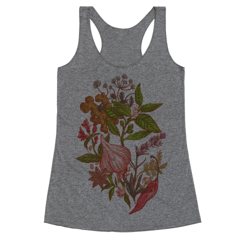 Chef's Botanical Herbs and Spices Racerback Tank Top