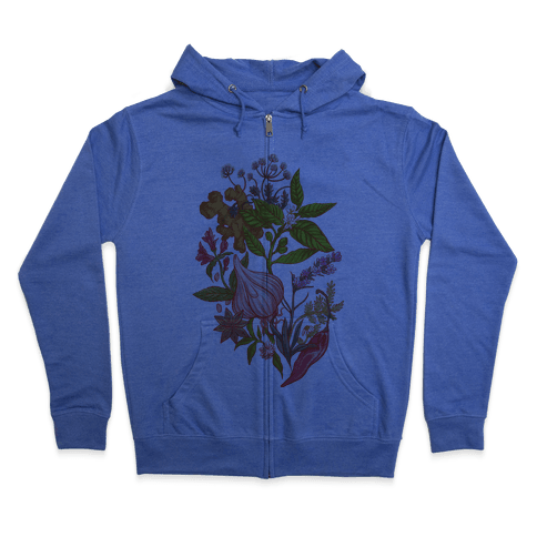 Chef's Botanical Herbs and Spices Zip Hoodie