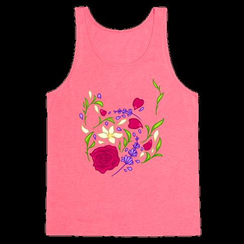 Floral Teapot Tank Top