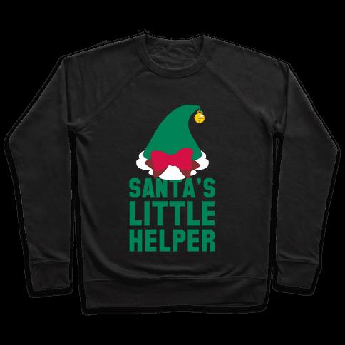 Santa's Little Helper (White Ink) Pullover