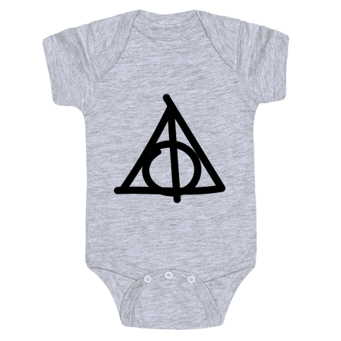 Deathly Hallows Doodle Baby Onesy