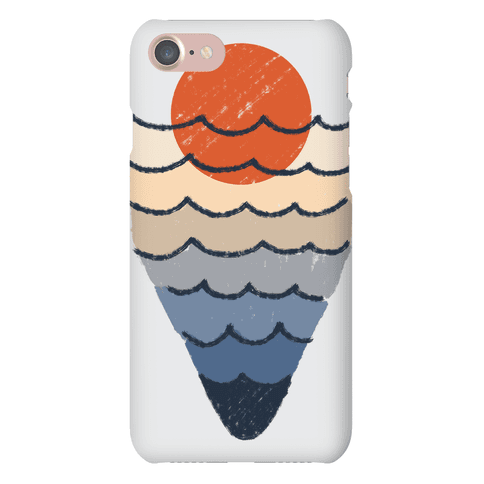Ocean Sketch Phone Case