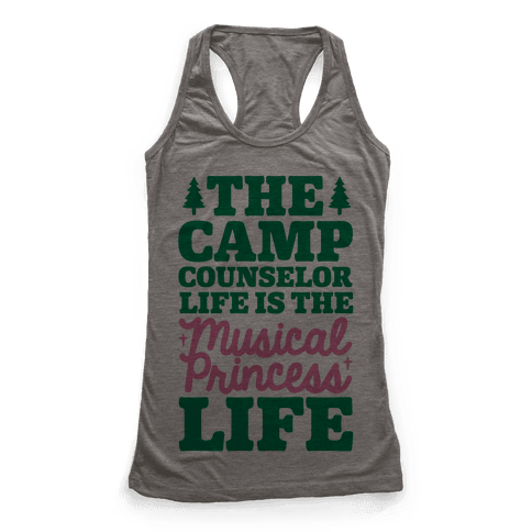 Camping Princess Racerback Tank Top