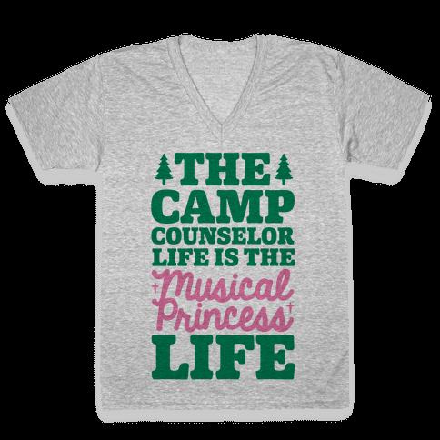 Camping Princess V-Neck Tee Shirt