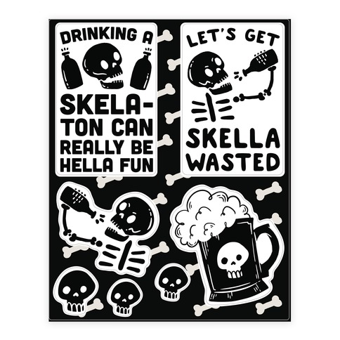 Halloween Drinking Sticker and Decal Sheet