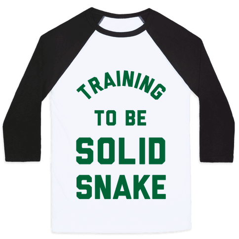 Training To Be Solid Snake Baseball Tee